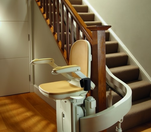 buying a stairlift, professional stairlift repair in Brooklyn, curve-with-180-degree-park